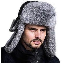 0ef815fbf4782 Weimilon Sombrero Aviador Unisex para Cap Hat Gorras Gorros para Hombre  Mujer Piel Conejo Sombrero Bombardero