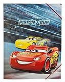 Undercover caad0300–Cartellina con elastico, formato A4, Disney Pixar Cars 3