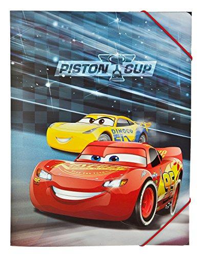 Undercover caad0300–A4–Carpeta con Goma, Disney Pixar Cars 3
