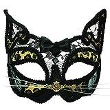 Bristol Novelty Leopard transparent Eye Maske auf, Kopfband, PET, Polyester, Acryl Stein, Stahlblech, Mehrfarbig, one Size
