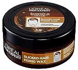 L'Oréal Men Expert Barber Club Slicked Hair Fixing Wax: Haarwachs Styling Produkt; Sehr starker Halt; Männlicher Duft; Slick Look Frisur ohne verkleben, 75ml