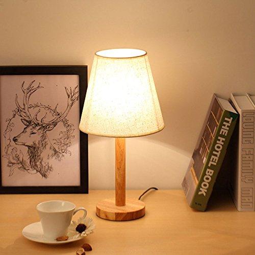 XINYU Einfaches Modernes Schlafzimmer des Schlafzimmers des Massivholzlampenschlafzimmers Kreative Warme Wohnzimmer Nachttisch Führte Dekorative Lichter,Dimming