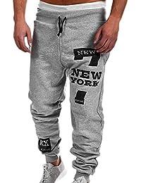 dce1bf646439c Pantalon Homme Sport Hiver Jogging Pantalons de Survêtement Grande Taille  de Cordon de Serrage Tonsi
