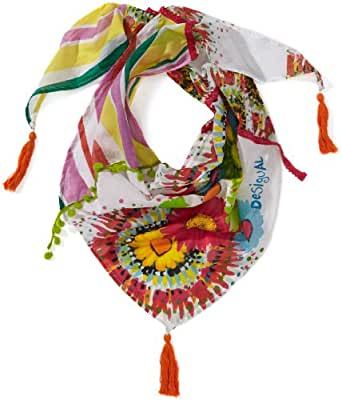 Desigual - too - foulard - fille - blanc (blanco) - taille unique