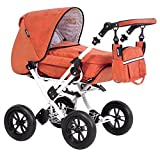 KombiPuppenwagen Zeki Limited Edition Dessin Matrix Orange