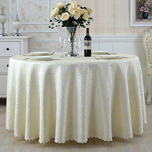 BSNOWF- Nappes Salle de style européen Restaurant Box Table à manger Tissu Hôtel Ronde Table carrée Table basse Tissu Taille En option ( taille : Round-180cm )
