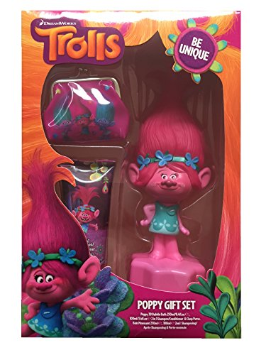 Bubble Bath Set (Dreamworks Trolle Kids 3D Bubble Bath Shampoo & Geldbörse Pack Geschenk-Set)