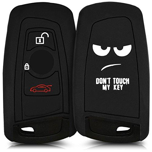 kwmobile Cover chiave compatibile con BMW chiave controllo remoto BMW con 3 tasti (solo Keyless Go) - Guscio protettivo coprichiave in morbido silicone TPU