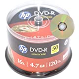 Disc Makers HP Premium 16x LightScribe DVD-Rs - Tub of 50 LIGHT SCRIBE PRINTABLE RECORDABLE DVD 4.7GB 120MINS