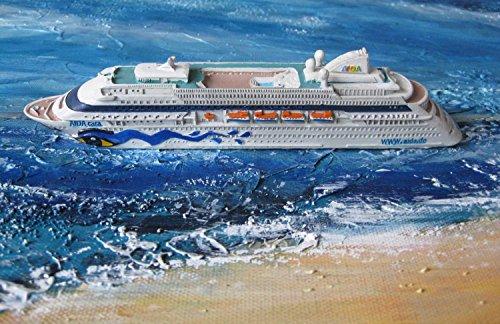 Preisvergleich Produktbild Schiffsmodell Aidacara Miniatur Boot Schiff AIDA Cara