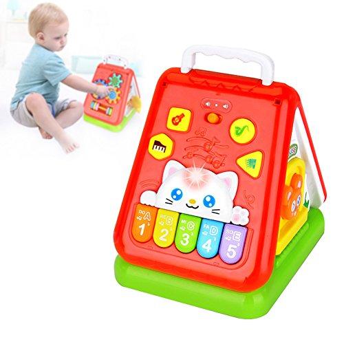 Frühe Lehre Lustiges Zimmer Kinder Spielzeug Musik Licht Multifunktionale Tetrahedron Weisheit Spielzeug Zimmer