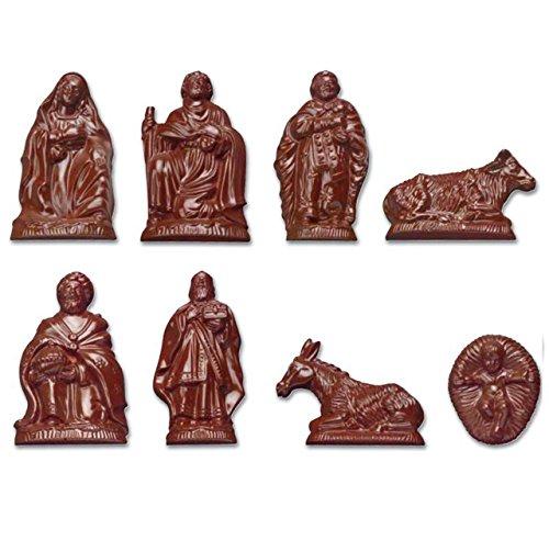 Stampo per cioccolato in policarbonato personaggi del presepe