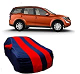 #10: HOLME'S Car Body Cover For Mahindra XUV 500 with Side Mirror Pocket (Red & Blue)