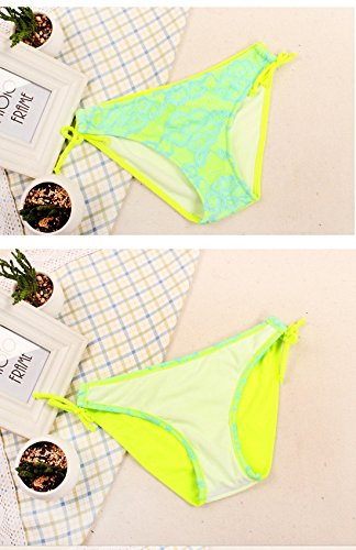 Damen Bikini Bademode Flower Spitze Halfter Sexy Badeanzug Orange