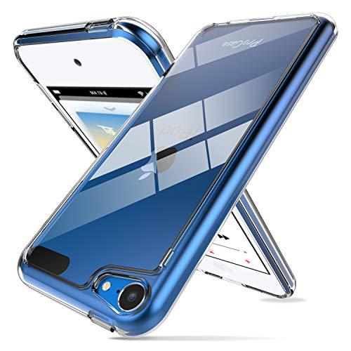 Procase ipod touch 7/6/5 (7g, 6g 5g generazione) cover trasparente, crystal custodia ibrida leggero sottile[hard pc back + flexible tpu edge] per ipod touch 7ᵃ, 6ᵃ e 5ᵃ gen -trasparente
