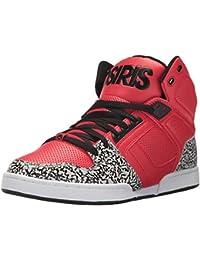 Osiris NYC 83 Hallo Top Skate Schuh - Rot / Elefant