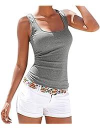 EUzeo_Mujer Camiseta Camiseta de Lentejuela Casual de Mujer❤️EUZeo❤️Camisa de Verano ...