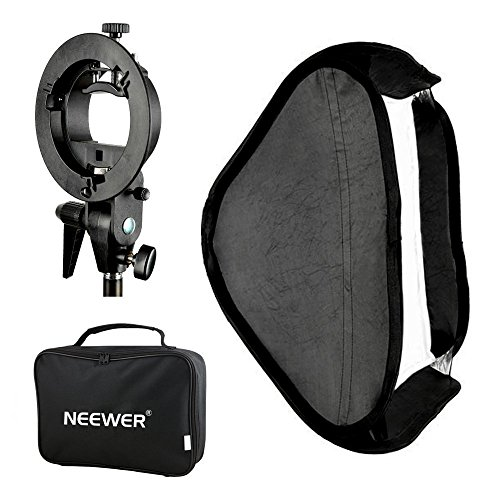Neewer Photo Studio Multifunctional 16x16 inches/40x40 centimeters Softbox with S-type Speedlite Flash Bracket Mount and Carrying Case for Portrait or Product Photography Speedlite Bracket