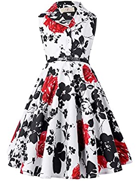 Swing Kleid A-Linie Partykleid Cocktailkleid 9-10 jahre CL9000-5