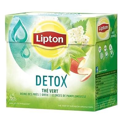 Lipton Pyramid Thé Vert Détox 20 Sachets 40 g