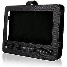 Funda de DVD portátil para asiento de coche de Ruisikiou, soporte giratorio con correa
