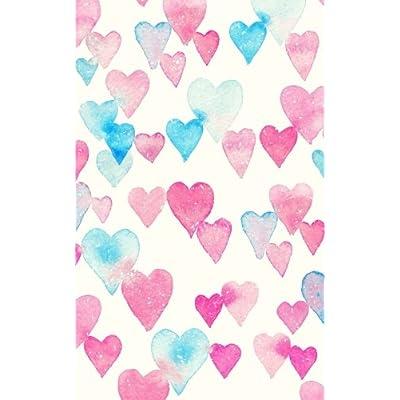 Carnet de Mots de Passe: A5 - 98 Pages - 152 - Watercolor - Coeurs - Rose - Bleu