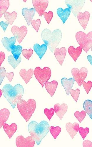 Carnet de Mots de Passe: A5 - 98 Pages - 152 - Watercolor - Coeurs - Rose - Bleu par Mes Mots de Passe Horko