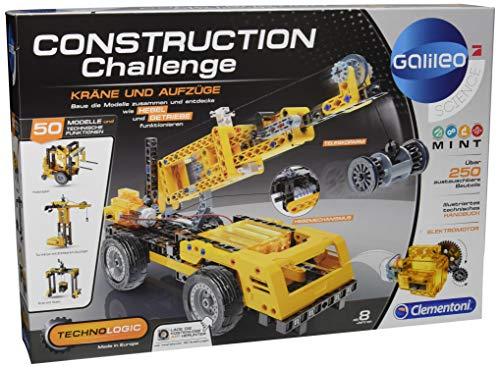 Clementoni 59079Construction Challenge-kräne & Ascensores, más Colores