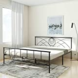 Amazon Brand - Solimo Jeff Metal King Bed (Black)