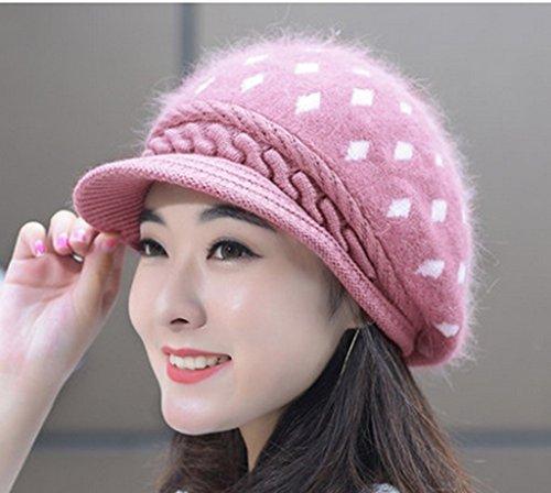 Chapeau Féminin Hiver Version Coréenne Chapeau Rabbi Chapeau à Couvercle Chapeau à Couleurs Solides Hiver ( couleur : # 13 ) 14#