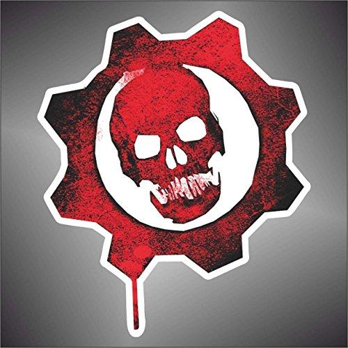 Adesivo Gears of War Skull Teschio PSP XBOX Sticker