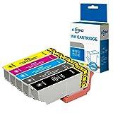 ECSC Compatible Encre Cartouche Remplacement Pour Epson XP-530 XP-540 XP-630 XP-635 XP-640 XP-645 XP-830 XP-900 T3351/61/2/3/4 (Noir/Photo-Noir/Cyan/Magenta/Jaune, 5-Pack)