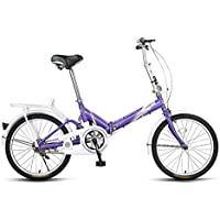Bicicleta plegable de bicicleta para adultos con mini bicicleta de 20 pulgadas (Color : Purple