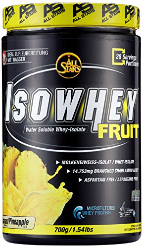 All Stars Isowhey Fruit Whey-Isolat, Ananas, 1er Pack (1 x 700 g)