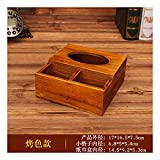 SHUCHANGLE Tissue Box Holder Multifunktionale Lagerung Vintage Massivholz Home Restaurant Desktop Papier Fernbedienung Aufbewahrungsbox