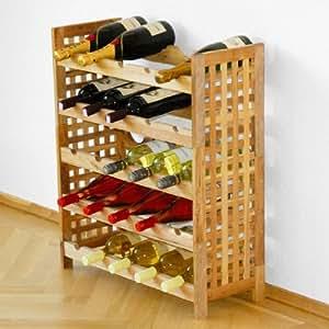 Étagère à vin / Système Casier à bouteilles pour 25 bouteilles - H 73 x 63,5 x P 25 cm