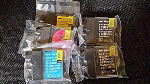 10x Kompatible Drucker Tintenpatronen für Brother DCP-195C - 2x Cyan / 2x Gelb / 2x Magenta / 4x Schwarz