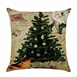 DEFFWB Pillow Cases, Clearance Sale! Christmas Lovely Pillow Case Sofa Waist Throw Cushion Cover Home Decor (Red)