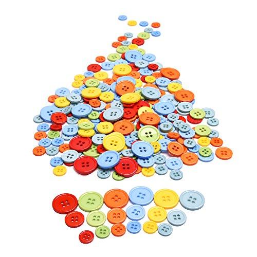 Outus Botones de Resina de 4 Agujeros de Colores Variados