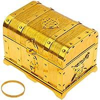Goldge Piraten Schatzkiste Schatztruhe aus Kunststoff Gelbe preisvergleich bei kinderzimmerdekopreise.eu