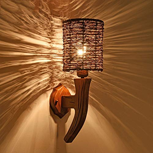 WENYAO Wandleuchte European American Nachttischlampe Schlafzimmer Wohnzimmer Treppe Gang Lampe Balkon Lampe Mode