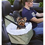E-FAST Dog Cat Puppy Pet Car Booster Seat Travel Carrier Bag Cage Blanket Sheepskin Lining Chair with Front Zippered