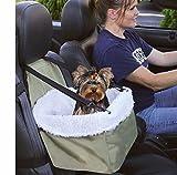 e-fast Auto-Sitzerhöhung / Reisekorb, für Hunde / Katzen, Schaffellfutter, Front-Reißverschluss