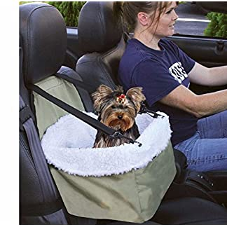 E-FAST Dog Cat Puppy Pet Car Booster Seat Travel Carrier Bag Cage Blanket Sheepskin Lining Chair with Front Zippered 14
