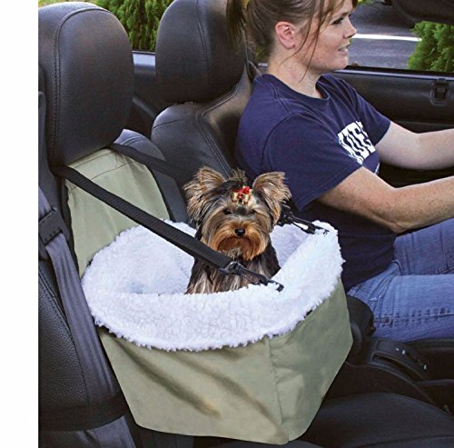 E-FAST Dog Cat Puppy Pet Car Booster Seat Travel Carrier Bag Cage Blanket Sheepskin Lining Chair with Front Zippered 1