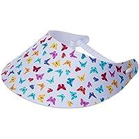 xfore Golfwear XFORE visera de golf Dara para mujer con diseño de la mariposa, color blanco, talla única