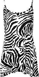 Funky Fashion Womens Printed Strappy Cami Spaghetti Ladies Swing Dress Plus Size