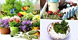 #2: Krisah® 5pcs Butterflies on Metal Wire with 5 pcs Ladybugs Garden/Plant Decor