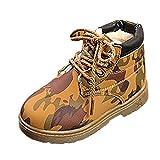 BBestseller Zapatos Botines para niños más algodón bota de nieve caliente Casual antideslizante Camuflaje Martin botas Zapatillas de deporte