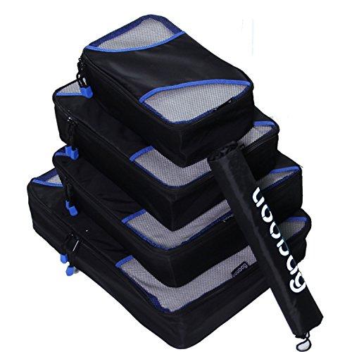 Fubevod-4-pcs-Kleidertaschen-KofferorganizerPacktaschen-Verpackungs-Cubes-Packing-Cubes-mit-Wschebeutel